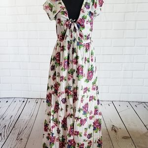 Jen's Pirate Booty flower maxi dress size medium